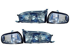 Toyota Camry 92 93 94 Diamond Black Head Light Corner Light Combo With Bulb Set