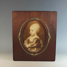 Antique Wood and Gilded Metal Picture Photo Frame