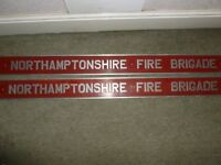 METAL FIRE BRIGADE SIGNS X 2