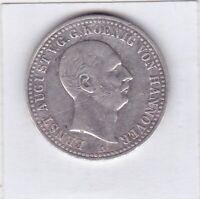 1 Taler Hannover 1839 Ernst August Glückauf! Clausthal Ausbeutetaler AKS131