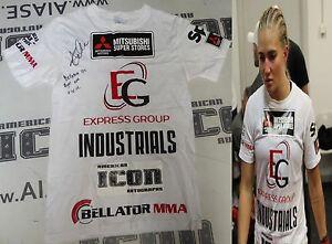 Anastasia Yankova Signed Bellator 152 Fight Used Worn Walkout Shirt PSA/DNA MMA