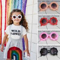 HN- KF_ Sun Flower Kids Girls Boy Sunglasses Goggle UV400 Protection Eyewear Gla