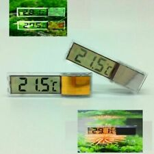 3D Fish Tank Thermometer Aquarium Digital Water LCD Crystal Gold / Silver state