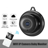 720P Wireless Mini WIFI Night Vision Smart Home Security IP Camera  Monitor US d