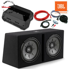 "JBL Club Stage 12"" Double Slot Port Bass Package Deal 1000W Amp Sub Kit"