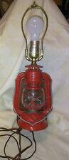 VINTAGE  DIETZ GLOBE,  RANCH CRAFT LANTERN  WALL LAMP Red Mid-Century Working