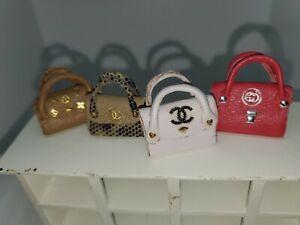 DOLLS HOUSE/ SHOP detailed leather handbags items handmade small