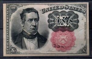 USA Fr 1265 10 Cents 4th Issued 1874 AUNC Rare