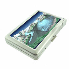 Alaska Images D9 Cigarette Case with Built in Lighter Metal Wallet Glacier
