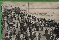 Vintage View Postcard Boardwalk Steeplechase Steel Pier Atlantic City New Jersey