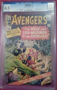 Avengers #3 (Marvel, 1/64) CGC 4.5 VG+ (The Hulk & Sub-Mariner vs. Avengers)