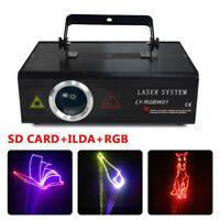 ILDA 500mW RGB Laser SD Card 25CH DMX Animation Projector Show DJ Stage Lighting