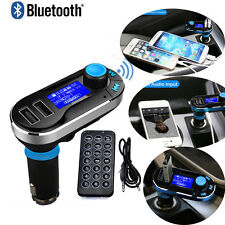 Portable Bluetooth Car Kit MP3 Player LCD FM Transmitter Charger For iPhone7 NEW