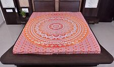 Indian Hippie Ombre Mandala Tapestry Queen Wall Hanging Decor Orange Bedspread