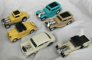 Lot of Six Vintage Aurora Thunderjet O gauge Slot Cars Ford Mercury & More