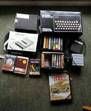 Lot console sinclair ZX SPECTRUM  + 18 jeux+lecteur cassette philips + direco...
