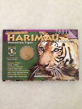 (JC) Endangered Animals - Sumatran Tiger - Harimau (25 sen) Coin Card - No.1
