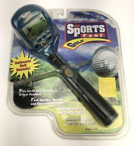 Sealed Vintage Tiger Sports Feel Golf Handheld Electronic LCD Game Golfing