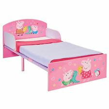 PEPPA PIG TODDLER BED WITH SIDE PANELS JUNIOR BEDROOM KIDS GIRLS PINK