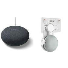 Google Home Mini Smart Assistant Speaker - Charcoal with FREE Wall Mount