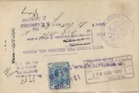 Italy 1920s revenue stamps on 2 passport pages