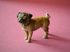 VINTAGE EARLY 20th CENTURY COLD PAINTED VIENNA BRONZE PUG DOG STAMPED AUSTRIA