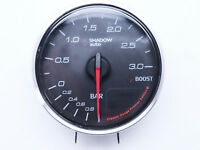 Boost Gauge Shadow Gauge 60mm Turbo Meter 3 BAR White LED Electrical Classic