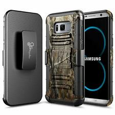 For Samsung Galaxy S8 / S8 Plus Case Rugged Holster Belt Clip Phone Cover