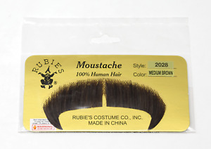 RUBIES HUMAN HAIR COSTUME MUSTACHE BROWN GREY BLONDE 2028 STYLE WINCHESTER
