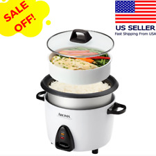 Electric Rice Cooker Food Steamer 20 Cup MultiFunctional Stainless Non Stick Pot