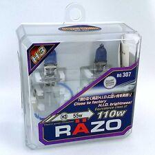 RAZO H3 Xenon Headlight Bulbs Bright - Royal White  JDM Halogen BG307 New Sealed