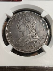 1836 Capped Bust Reeded Edge 50C Extremely Rare only 1200 minted NGC VF-30