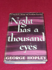 """Night Has a Thousand Eyes by """"George Hopley"""" (Cornell Woolrich) (1945, HC) First"""
