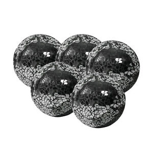 Orb Antique White and Black Decorative Ball Sphere