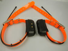 Lot of 2 GARMIN DC40 GPS dog collar for ASTRO220/320 USA Version Orange straps