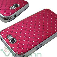 Custodia BRILLANTINI per Samsung Galaxy NOTE 2 N7100 II cover rigida LUCE FUCSIA