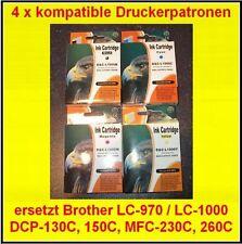 Lot de 4 CARTOUCHES pour Brother MFC 665CN 680CN 685CW 845CW 885CW 3360C 5460CN