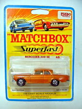 Matchbox SF Nr.46A Mercedes 300 goldmet. rare 1969 Blisterkarte