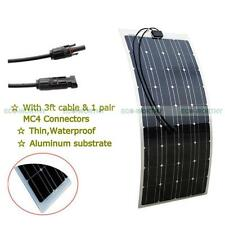 Fexible 100W PV Power Mono Solar Panel  Charge 12V Battery Motorhome Waterproof