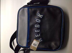 "Reebok classic unisex cross shoulder sling bag (S16606) black/ grey 12"""