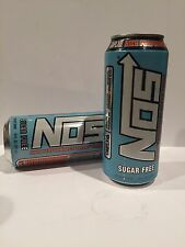 Nos Energy Drink Sugar Free High Performance Enhanced Drink.2(TWO) Cans Lot