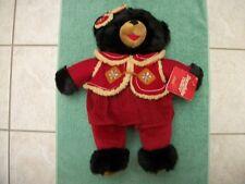 "New with Tag 2006 Walmart Dan Dee Christmas Snowflake Plush 20"" Teddy Black Bear"