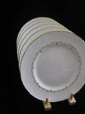 "Royal Worcester 'Gold Chantilly' Set 6 x 8"" Salad / Lunch / Dessert Plates"