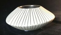 Bisque Votive Holder Flying Saucer Black and White Modern Boho Chic