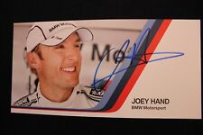 Card BMW Motorsport Team RBM DTM 2013 #8 Joey Hand (USA) Signed