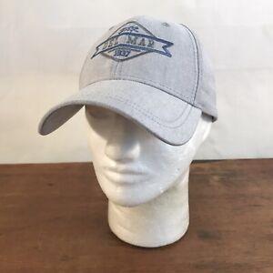 Del Mar 1937 Gray Cotton Adjustable Baseball Cap Hat (CH13)