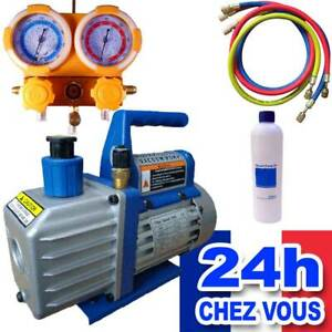 Kit pompe a vide et manifold gaz R410A R32 mise en service et recharge