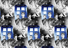 FAT QUARTER  DOCTOR WHO COTTON FABRIC POLICE PUBLIC PHONE BOOTH SPRINGS CREATIVE