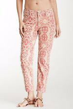 NWT Not Your Daughter's Jeans NYDJ Alisha in Red Stone Tribal Tiki Ankle 10P
