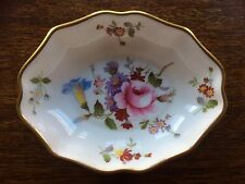 "VINTAGE Royal Crown Derby Dish Ciotola ""DERBY FIORELLINI'S NINNOLI Bone China Dorato"